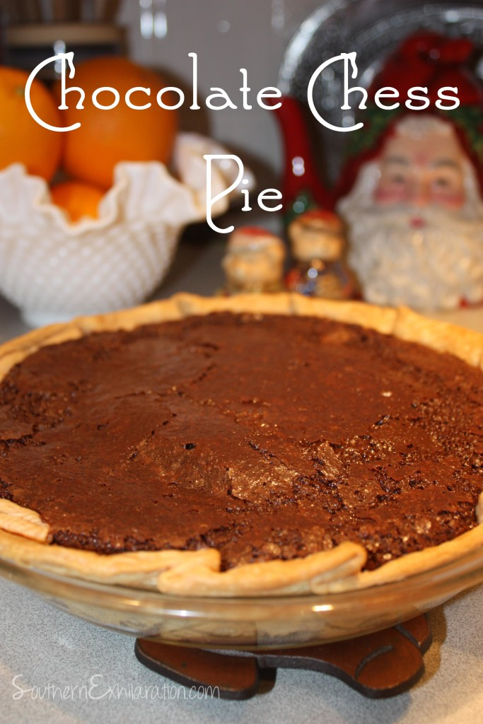 Southern Exhilaration: Chocolate Chess Pie #Recipe