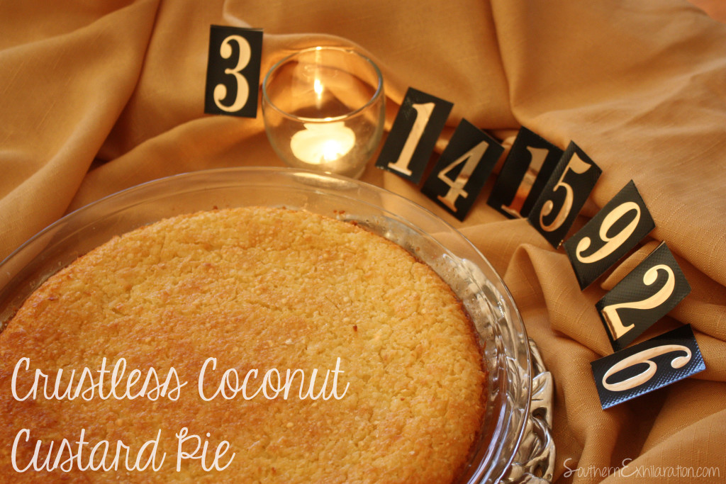 Southern Exhilaration: Crustless Coconut Custard Pie #Recipe