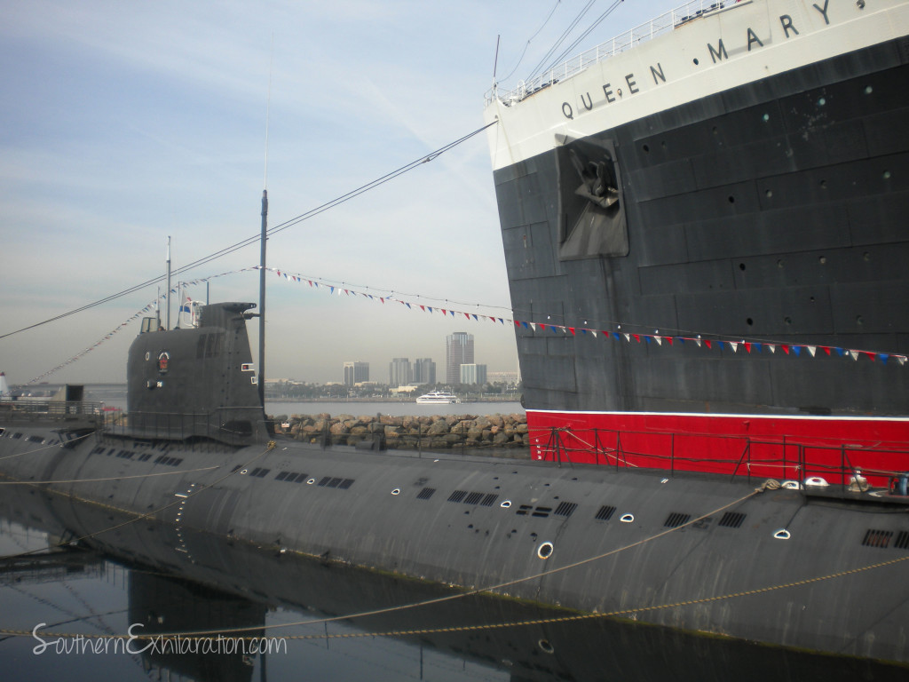 The Queen Mary and Russian Scorpion Submarine | Long Beach, CA